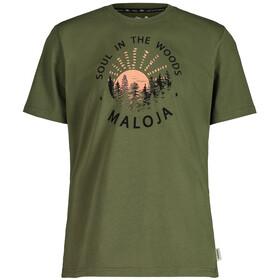 Maloja HeckenkirscheM. SS T-shirt Herrer, oliven